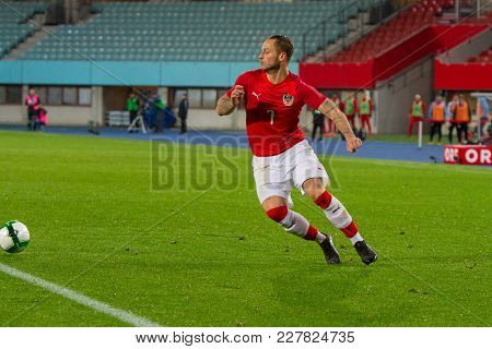 Vienna, Austria, 2017/11/14:  Marco Arnautovic At Friendly International Soccer Match Austria Vs Uru