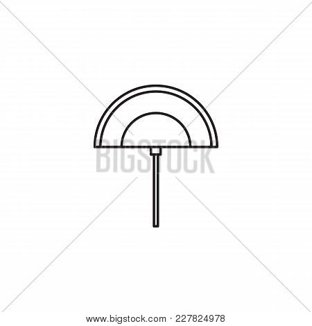 Egyptian Fan Icon In Line Style. Egypt Fan Object Vector Illustration Isolated On White Background.
