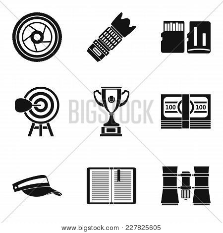 Fitness News Icons Set. Simple Set Of 9 Fitness News Vector Icons For Web Isolated On White Backgrou