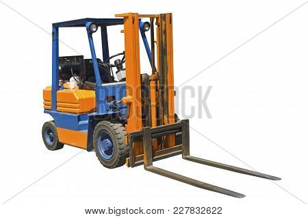 Compact Forklift Isolated On A White Background