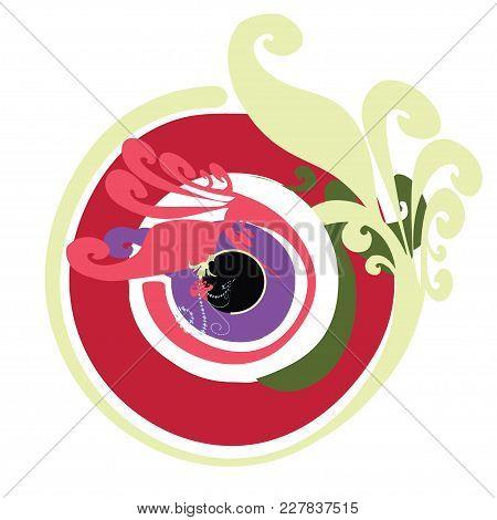 Artistic Greek Evil Eye Vector In Multipule Colors