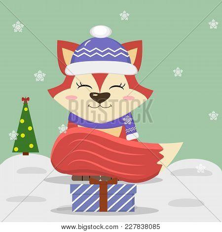 a3d118fb6f750 Cartoon Cute Fox Blue Vector   Photo (Free Trial)