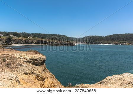 Cove Along  The Coast Of Mendocino, California