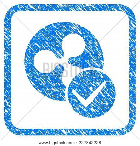 Valid Ripple Coin Rubber Seal Stamp Imitation. Icon Vector Symbol With Grunge Design And Dirty Textu