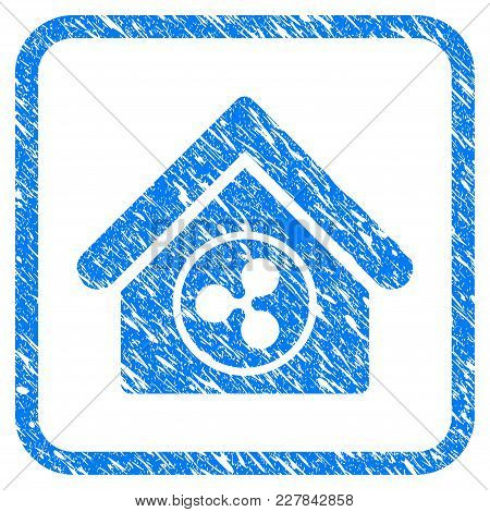 Ripple Realty Rubber Seal Stamp Imitation. Icon Vector Symbol With Grunge Design And Corrosion Textu