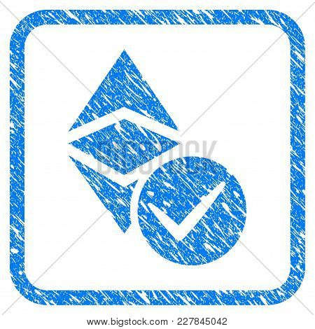 Valid Ethereum Classic Rubber Seal Stamp Watermark. Icon Vector Symbol With Grunge Design And Corros
