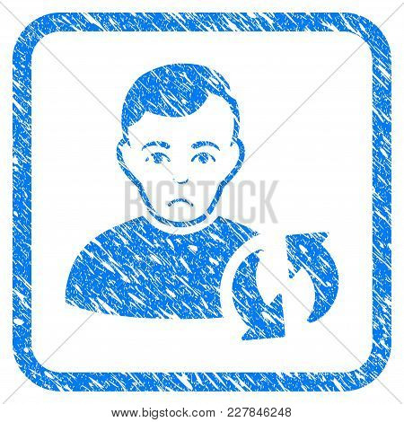 User Update Rubber Seal Stamp Watermark. Icon Vector Symbol With Grunge Design And Unclean Texture I