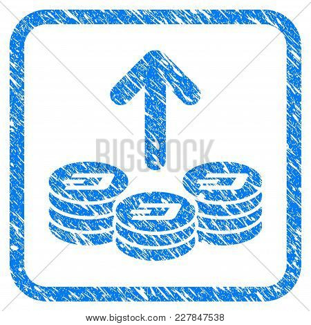 Spend Dash Coins Rubber Seal Stamp Imitation. Icon Vector Symbol With Grunge Design And Corrosion Te