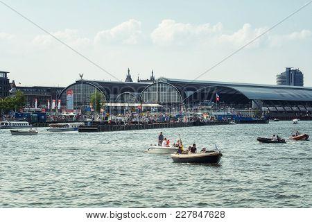Amsterdam, Netherlands, 20 August 2015:  Sail Amsterdam 2015 Is An Immense Flotilla Of Tall Ships, M