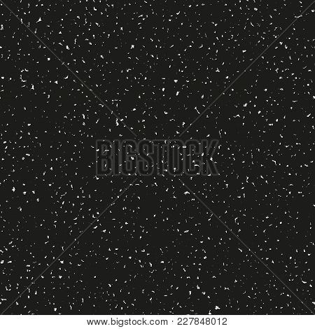 Black Bold Grungy Seamless Vector Texture. Decorative Layout For Adding Roughness To Design With Any