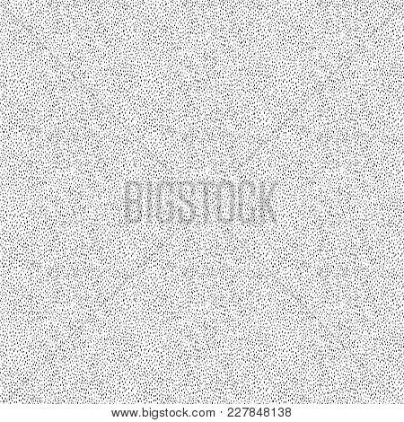 Ditsy Noise Abstract Vector Seamless Texture. Tiny Dots And Strokes In Balanced Seamless Halftone Pa