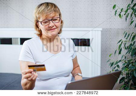 Senior Woman Shopping Online. Senior Woman Shopping Online