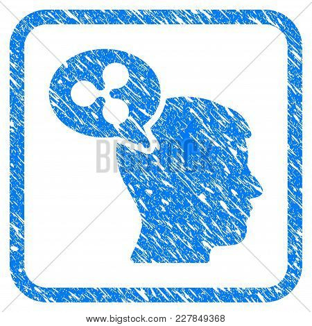 Ripple Thinking Balloon Rubber Seal Stamp Watermark. Icon Vector Symbol With Grunge Design And Dirty
