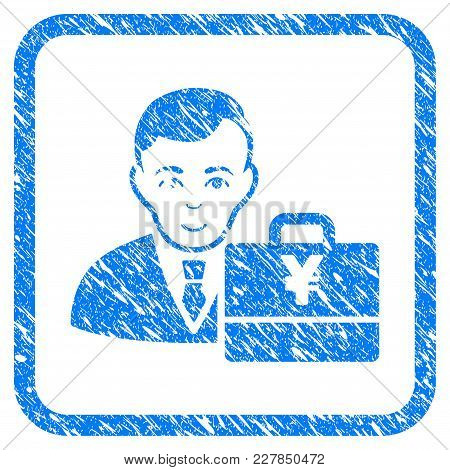 Yen Accounter Rubber Seal Stamp Watermark. Icon Vector Symbol With Grunge Design And Unclean Texture