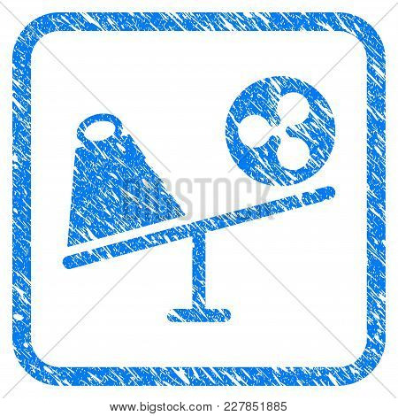 Ripple Trade Swing Rubber Seal Stamp Imitation. Icon Vector Symbol With Grunge Design And Corrosion
