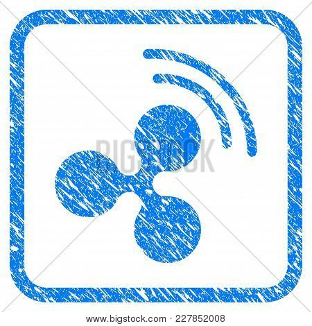 Ripple Source Signal Rubber Seal Stamp Imitation. Icon Vector Symbol With Grunge Design And Dirty Te