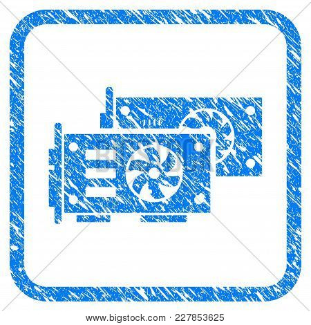 Video Graphics Gpu Cards Rubber Seal Stamp Watermark. Icon Vector Symbol With Grunge Design And Dust
