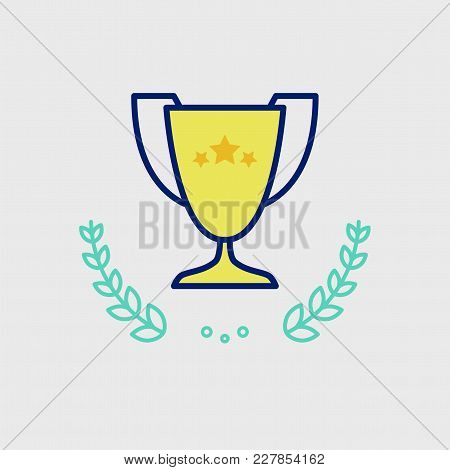 The Winner's Trophy With The Stars