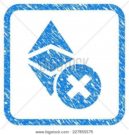 Wrong Ethereum Classic Rubber Seal Stamp Imitation. Icon Vector Symbol With Grunge Design And Dirty