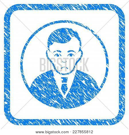 Rounded Gentleman Rubber Seal Stamp Watermark. Icon Vector Symbol With Grunge Design And Corrosion T