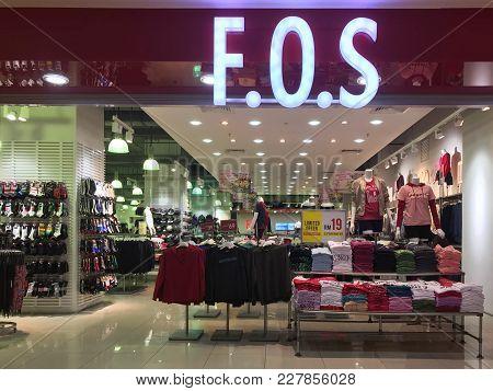 Perak, Malaysia - February 18, 2018 - F.o.s Store In Ipoh Parade Ipoh.