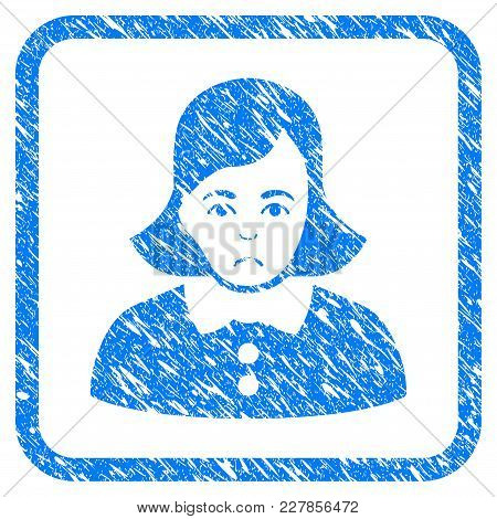 Woman Rubber Seal Stamp Watermark. Icon Vector Symbol With Grunge Design And Dirty Texture In Rounde