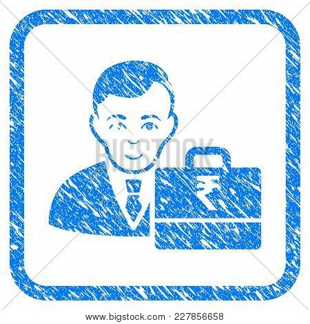 Rupee Accounter Rubber Seal Stamp Watermark. Icon Vector Symbol With Grunge Design And Corrosion Tex