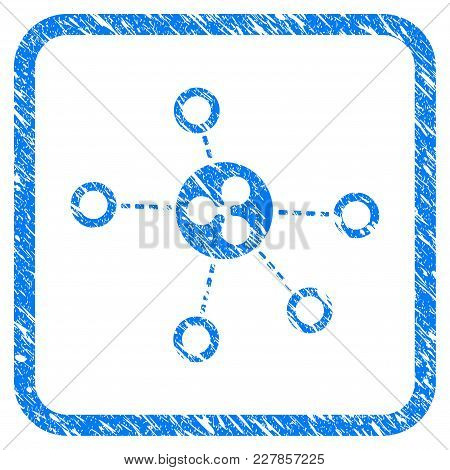 Ripple Relations Rubber Seal Stamp Watermark. Icon Vector Symbol With Grunge Design And Dust Texture