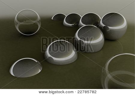 Abstract glass balls background