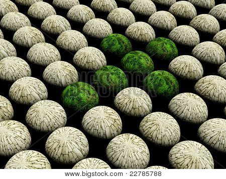 Abstract sphere nature Background