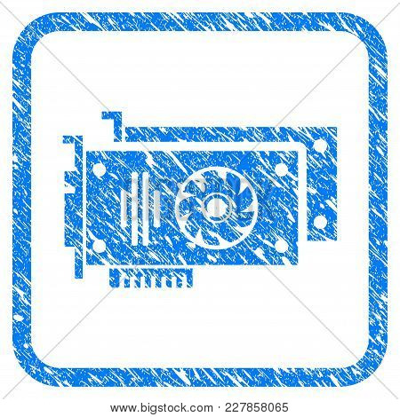 Video Cards Rubber Seal Stamp Watermark. Icon Vector Symbol With Grunge Design And Dust Texture Insi