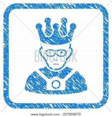 Thailand King Rubber Seal Stamp Imitation. Icon Vector Symbol With Grunge Design And Corrosion Textu