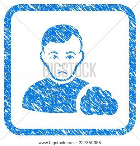 User Cloud Rubber Seal Stamp Watermark. Icon Vector Symbol With Grunge Design And Unclean Texture In