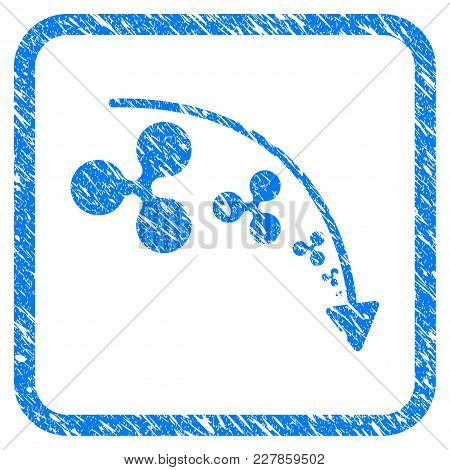 Ripple Reduce Trend Rubber Seal Stamp Imitation. Icon Vector Symbol With Grunge Design And Dirty Tex