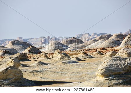Unusual Limestone Formation In White Desert At Sunset, Sahara, Egypt, Africa