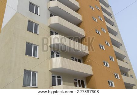 Modern Multistory Apartment Building. Contemporary Architecture. Residential Building. Building Frag