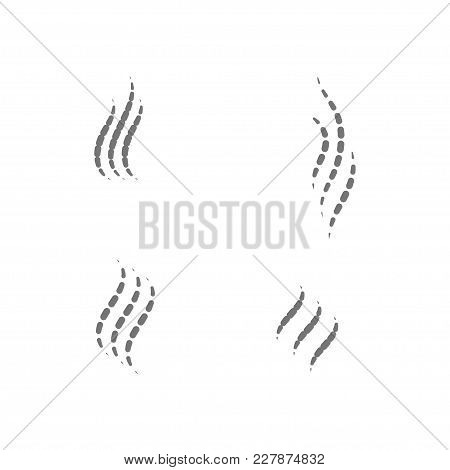 Smell Aroma And Fragrance Sign Set. Stock Vector Illustration Of Odor And Scent By Circles Isolated