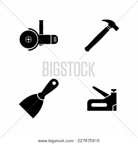 Construction Working Tools. Simple Related Vector Icons Set For Video, Mobile Apps, Web Sites, Print