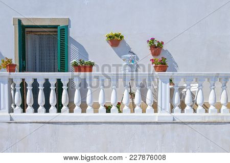 Monopoli, Italy, Detail  Of The Houses On The Seafront