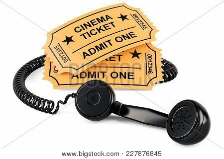 Movie Ticket Booking Concept, 3d Rendering Isolated On White Background