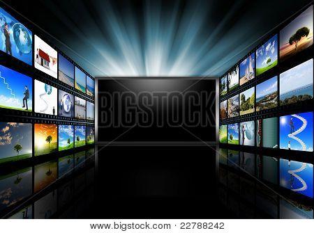 Computer-Bildschirme mit Bildern