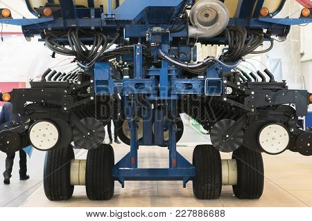 Agricultural Machine For Precise Application Of Fertilizers. The Machine For Chemical Processing.