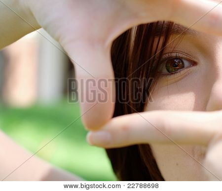 Photo of  girl eye at the park