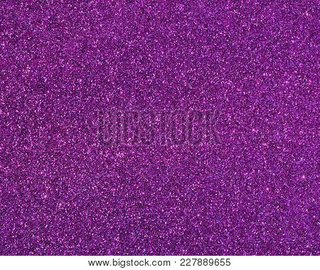 Close Up Purple Glitter For Christmas Background
