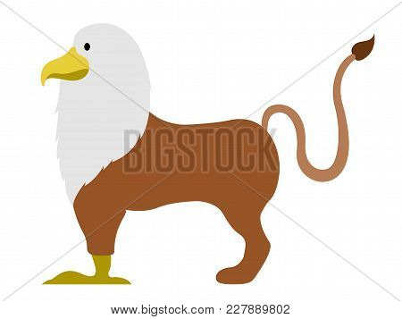 Isolated Cute Griffin Icon. Vector Illustration Design