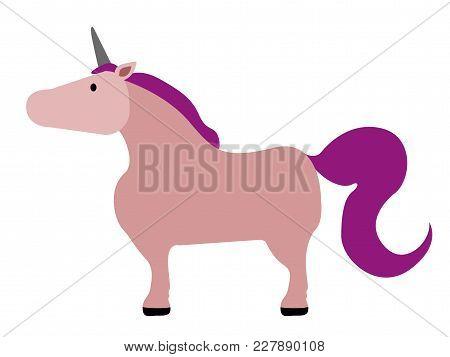Isolated Cute Unicorn Image. Vector Illustration Design