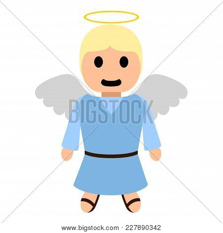Isolated Cartoon Character Of An Angel. Vector Illustration Design