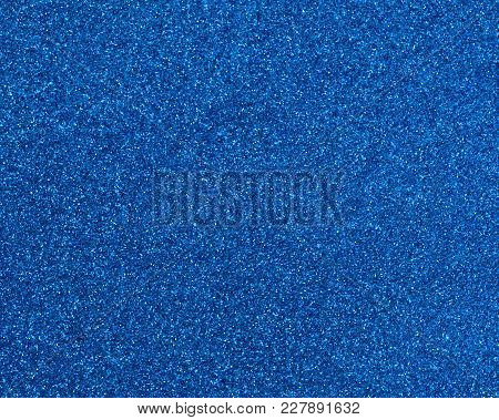 Blue Glitter Texture Abstract For Christmas Background