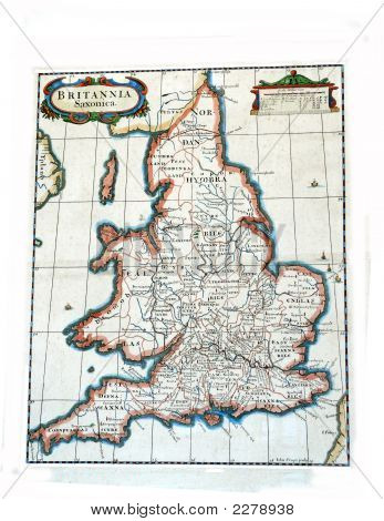 Ancient Map Of Britain