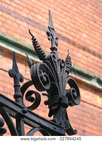 Zelenogradsk (kranz), Russia; 2011; Architectural Detail On Cast Iron Gates
